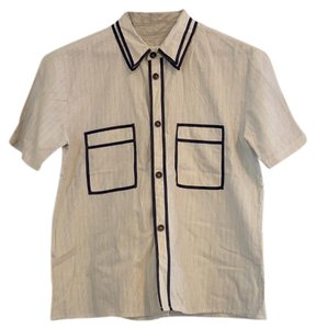 Billy Reid Button Down Shirt pin stripe
