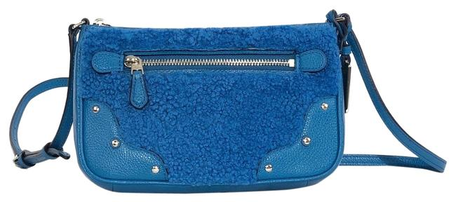 Item - Rhyder Small Pochette / Peacock Shearling Leather Cross Body Bag