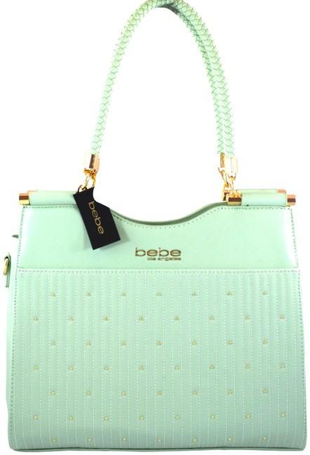 Item - Aliah Green Light Mint Faux Leather Tote