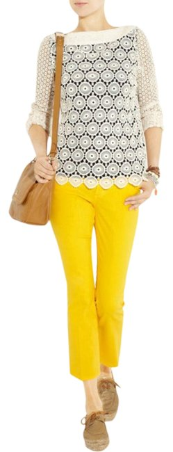 Item - Yellow Light Wash Boot Capri/Cropped Jeans Size 30 (6, M)