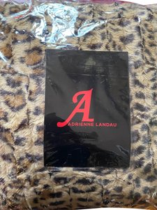Adrienne Landau Leopard faux fur throw and pillow set