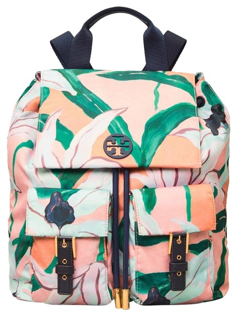 Item - Perry Limited Tilda Printed Flap Leather Pink Desert Bloom Nylon Backpack
