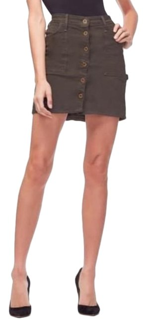 Item - Green The Mini Button Front Skirt Size 0 (XS, 25)