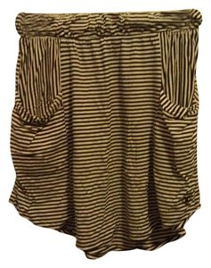 Roxy Pinstripe Mini Skirt Black/White Stripes