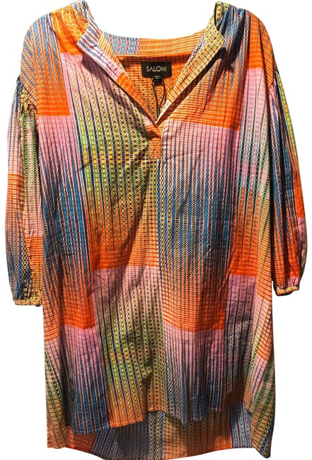 Item - Multi Colored Tunic Short Casual Dress Size 2 (XS)