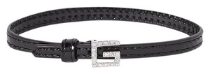 Gucci SMALL Patent-leather, silver-tone and crystal bracelet