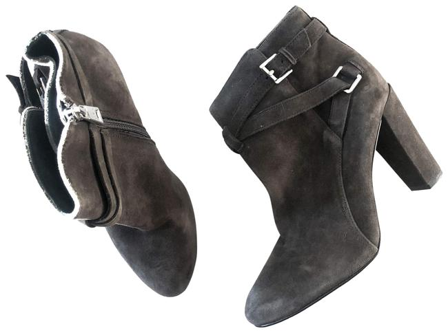 Item - Grey Vianca Round Toe Suede Ankle Boots/Booties Size US 8.5 Regular (M, B)