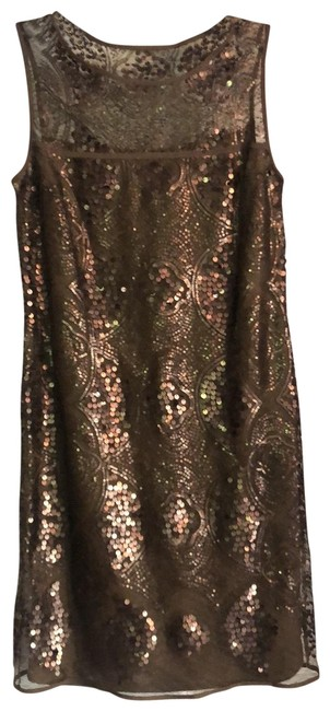 Item - Copper Mesh Layered Sequin Sleeveless Night Out Dress Size 2 (XS)