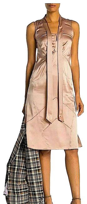 Item - Pink with Tag Silk Women's Satin Tie-neck Mid-length Night Out Dress Size 6 (S)