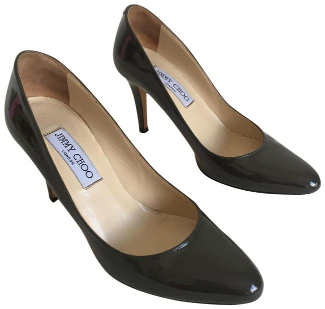 Item - Olive Green Patent Leather Pumps Size US 7 Regular (M, B)