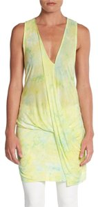 Young Fabulous & Broke Tye-dye Asymmetrical Draped Tunic