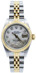 Rolex Rolex Ladies Oyster Perpetual Datejust Diamonds Mother Of Pearl Dia
