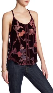 Anama Floral Sheer Sleeveless Top Purple