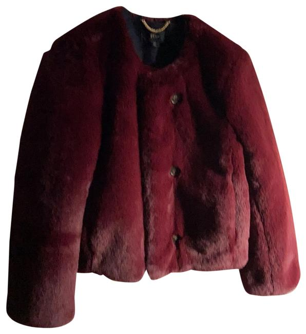 Item - Wine/ Maroon Faux Fur Cropped/ Waist High Jacket Size 0 (XS)
