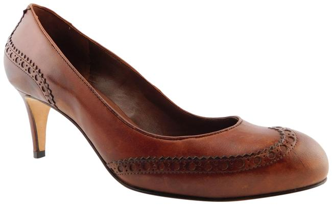 Item - Antique Brown Nike Air Leather Wing Tip Round Toe Heels Pumps Size US 8 Regular (M, B)