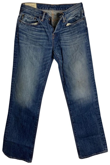 Item - Blue Light Wash 30x30 Denim 4 Button Straight Leg Jeans Size OS (one size)