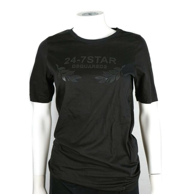Dsquared2 Black 24-7 Star Graphic Sleeve - Women's Small Tee Shirt Size 4 (S) Dsquared2 Black 24-7 Star Graphic Sleeve - Women's Small Tee Shirt Size 4 (S) Image 1