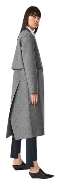 COS Grey Square Neck Long Wool Coat Size 2 (XS) COS Grey Square Neck Long Wool Coat Size 2 (XS) Image 1