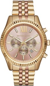 Michael Kors $275 NWT Michael Kors Lexington Rose Two-Tone Chronograph Watch MK6473
