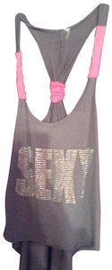 Mandee Top gray and pink