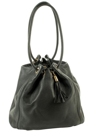 Michael Kors Pebbled Lunch Tote Black
