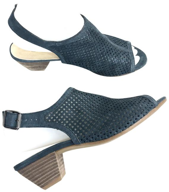 Item - Blue Mules/Slides Size US 5.5 Regular (M, B)