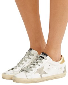 Golden Goose Deluxe Brand off white, gold, grey Flats