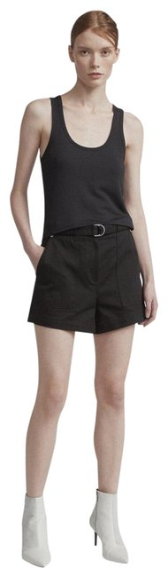 Item - Black Lora Belted Twill Shorts Size 6 (S, 28)