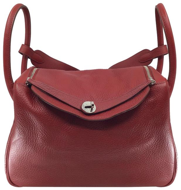 Item - Lindy Red 34 Taurillon Leather Hobo Bag