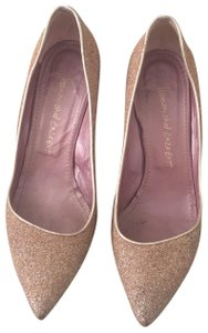 Jean-Michel Cazabat gold sparkle Pumps