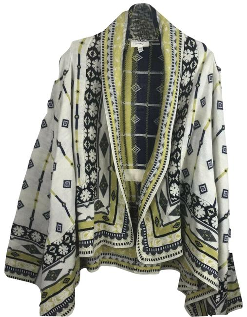 Item - Beige Black Gray Yellow Open Front Sweater Cardigan Size 0 (XS)