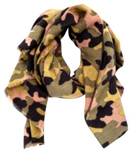 Collection Eighteen Not for Sale: Collection Eighteen Olive Pink Green Camo Scarf