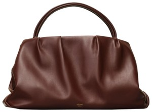 Céline Purse Clutch Medium Purse Clutch Purse Clutch Ree Purse Clutch Handle Tote in Brown Burgundy Smooth