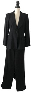 Armani Collezioni Armani Collezioni Classic One Button Black Blazer Pants Suit Set 12