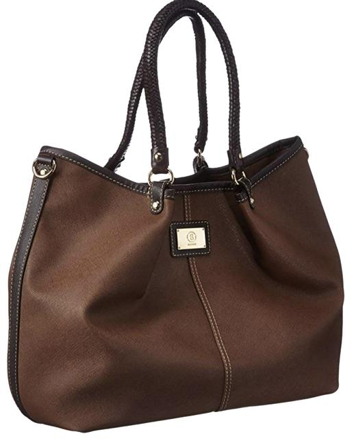 Item - Crossbody Saffiano Lily Brown Leather Tote