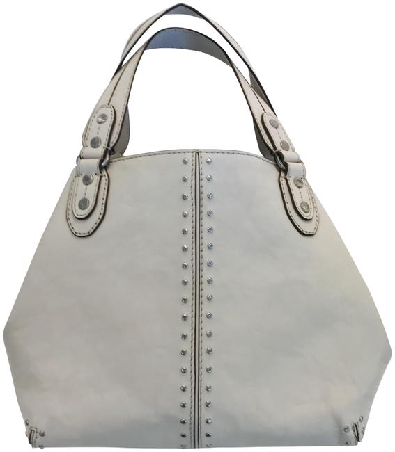 Item - Astor Studded White Leather Tote