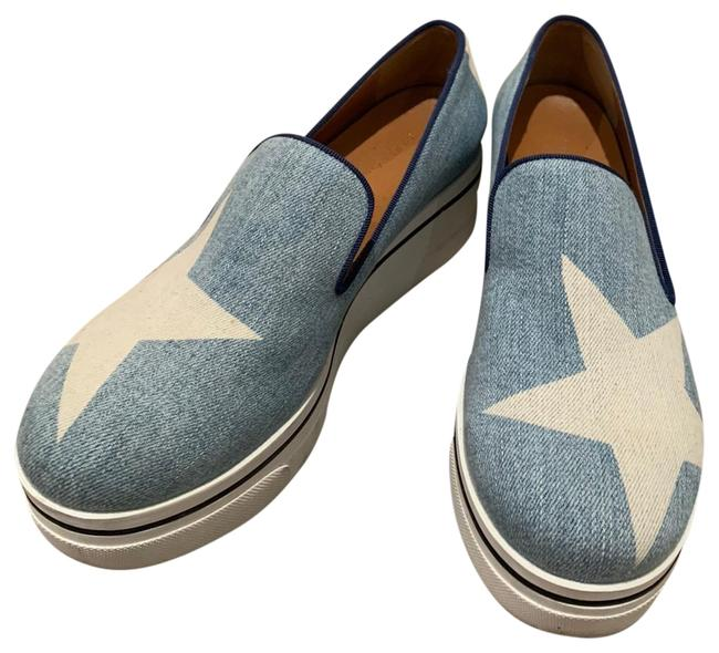 Item - Blue/White Star Denim Platform Loafers Sneakers Size EU 39 (Approx. US 9) Wide (C, D)