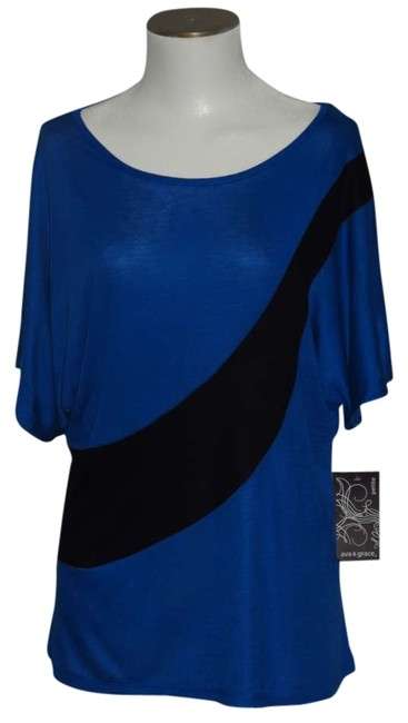 Item - Blue/Black Misses Large Tunic Size 14 (L)