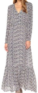 Cream Maxi Dress by ECI New York Ditsy Floral Ditsy Maxi Long Sleeve Maxi Floral