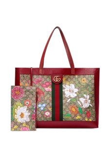Gucci Floral Ophidia Floral Ophidia Marmont Tote