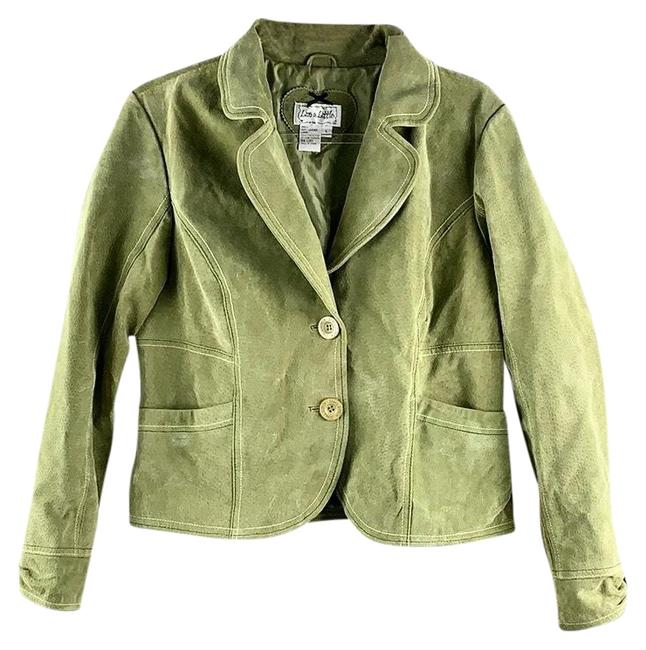 Preload https://img-static.tradesy.com/item/26969197/live-a-little-green-suede-leather-blazer-size-12-l-0-2-650-650.jpg