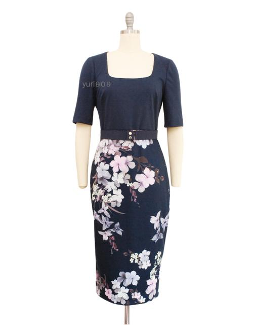 Preload https://img-static.tradesy.com/item/26969255/ted-baker-navy-laarra-pergola-print-bodycon-mid-length-workoffice-dress-size-8-m-0-4-650-650.jpg