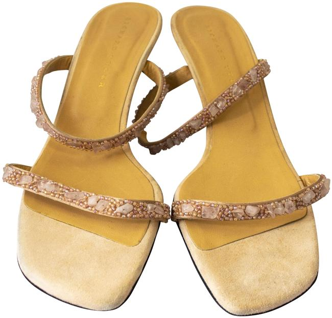 Richard Tyler Pink Suede Beaded Sandals Size US 10 Regular (M, B) Richard Tyler Pink Suede Beaded Sandals Size US 10 Regular (M, B) Image 1
