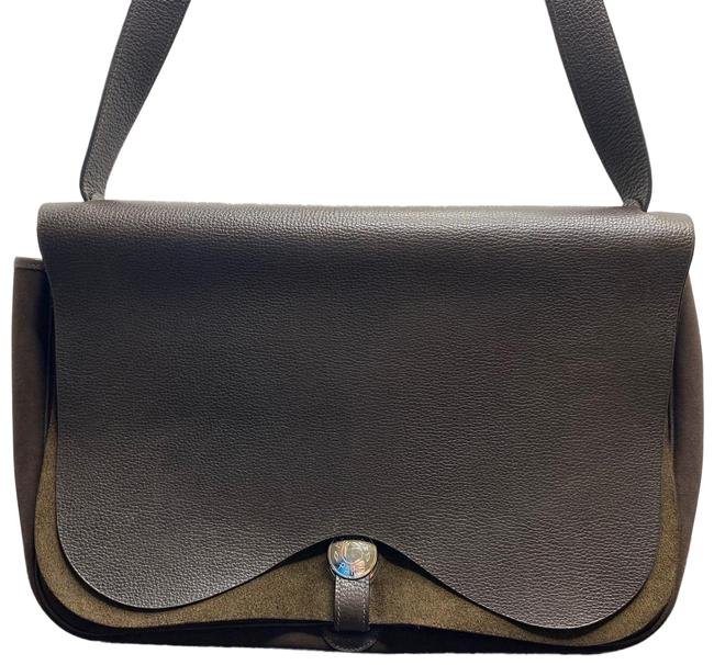 Item - Double Flap Colorado Gm Brown Leather Cross Body Bag