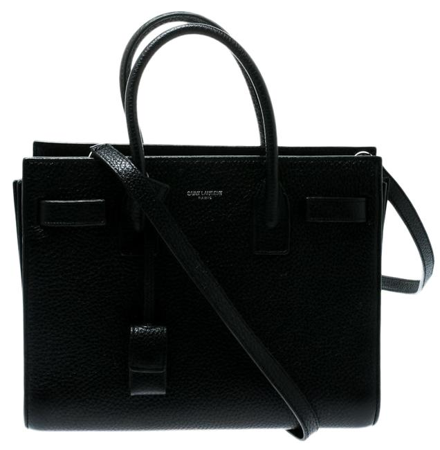 Saint Laurent Top Handle Bag Sac de Jour Baby Classic Black Leather Tote Saint Laurent Top Handle Bag Sac de Jour Baby Classic Black Leather Tote Image 1