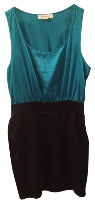 Preload https://item1.tradesy.com/images/forever-21-turquoiseblack-pencil-silk-above-knee-formal-dress-size-petite-8-m-269695-0-0.jpg?width=400&height=650