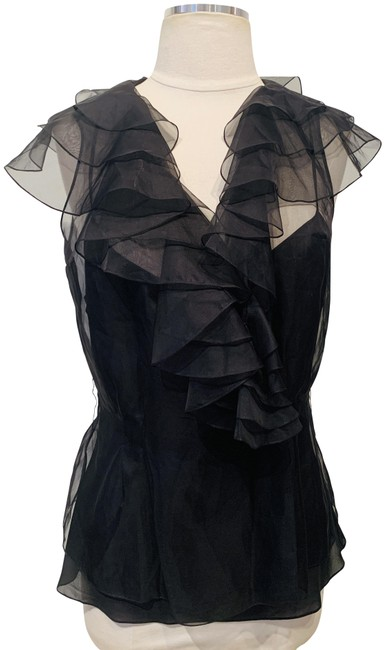 Preload https://img-static.tradesy.com/item/26969537/dior-black-silk-blouse-size-8-m-0-1-650-650.jpg