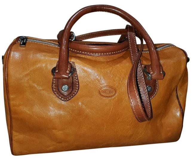 Item - Shoulder Bag Dark Yellow and Brown Leather Satchel