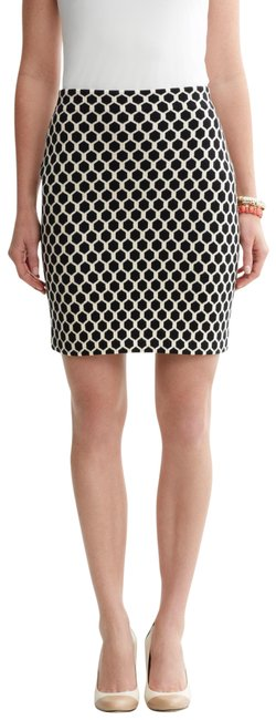Item - Cream Black Honeycomb Sweater Skirt Size 16 (XL, Plus 0x)