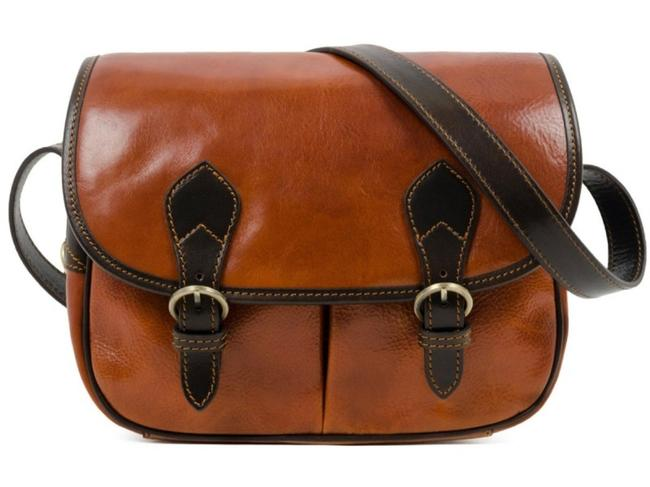 Time Resistance Paris Wife - Light Brown Leather Messenger Bag Time Resistance Paris Wife - Light Brown Leather Messenger Bag Image 1